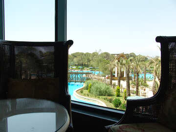 Armchairs   views  at  Pool №8307
