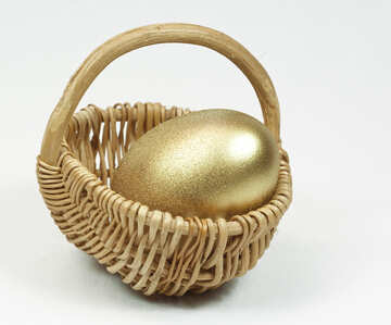 Easter  Egg  colored  Gold  paint №8243