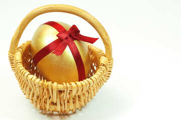 Easter  Postcard   Gold  egg