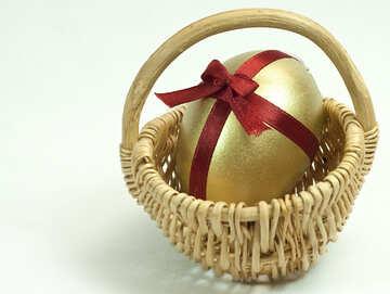Ostern Einkaufen Karre Gold Ei №8213
