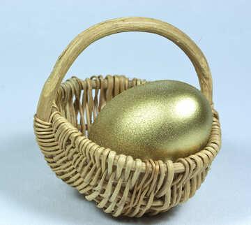 Gold  egg №8244