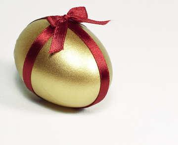 Золотое яйцо с ленточкой №8226