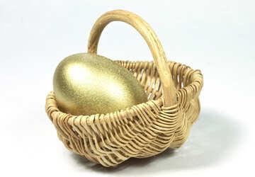 Gold Ei Einkaufen Karre №8246