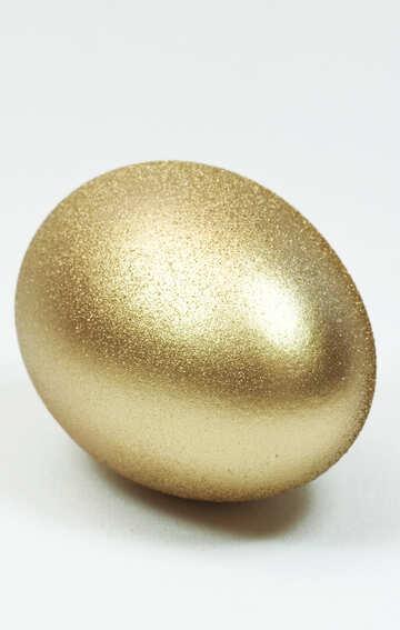 Egg . Yellow  metallic. №8238