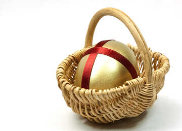 Wicker  Cart   Gold  egg №8217