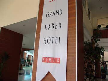 Großartig  haber  Hotel.  Markierungsfahne  Hotel.  Die Türkei. №8924