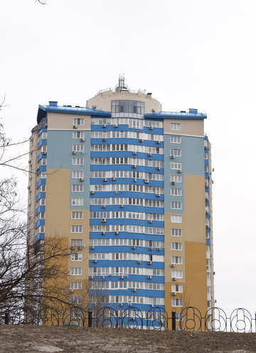 Multistorey  House  painted   different  Color №8715
