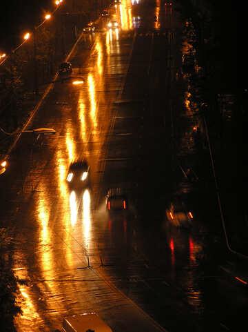 Notte Illuminazione strade №8074