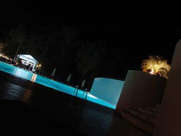 Illumination  in pool  night. №8500