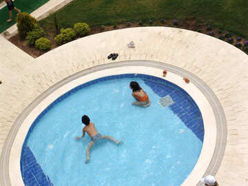 Kids swimming water pool   №8365