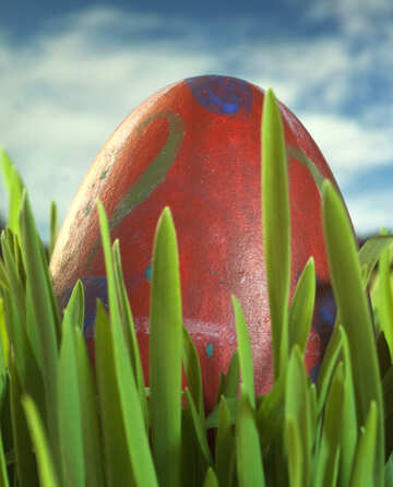 Symbol  Easter - red  egg №8162