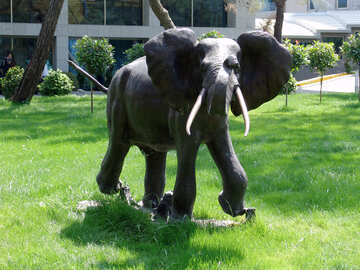Elephant . Garden  sculpture. №8449