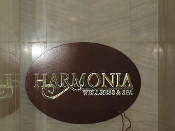 Signboard  harmonia  wellnes  and  spa №8917