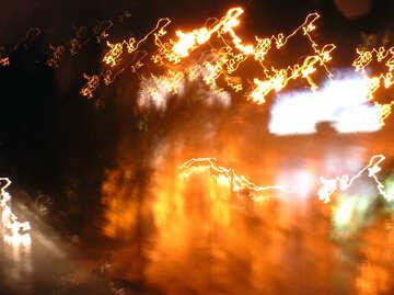 Background.  Hazy.  Night  road