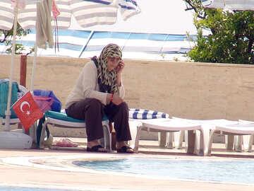 Turk woman  in  clothes.  Turkish  hotel №8779