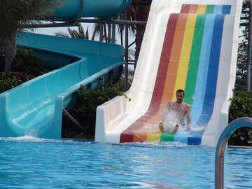 Descent  in  water  Slides №8803