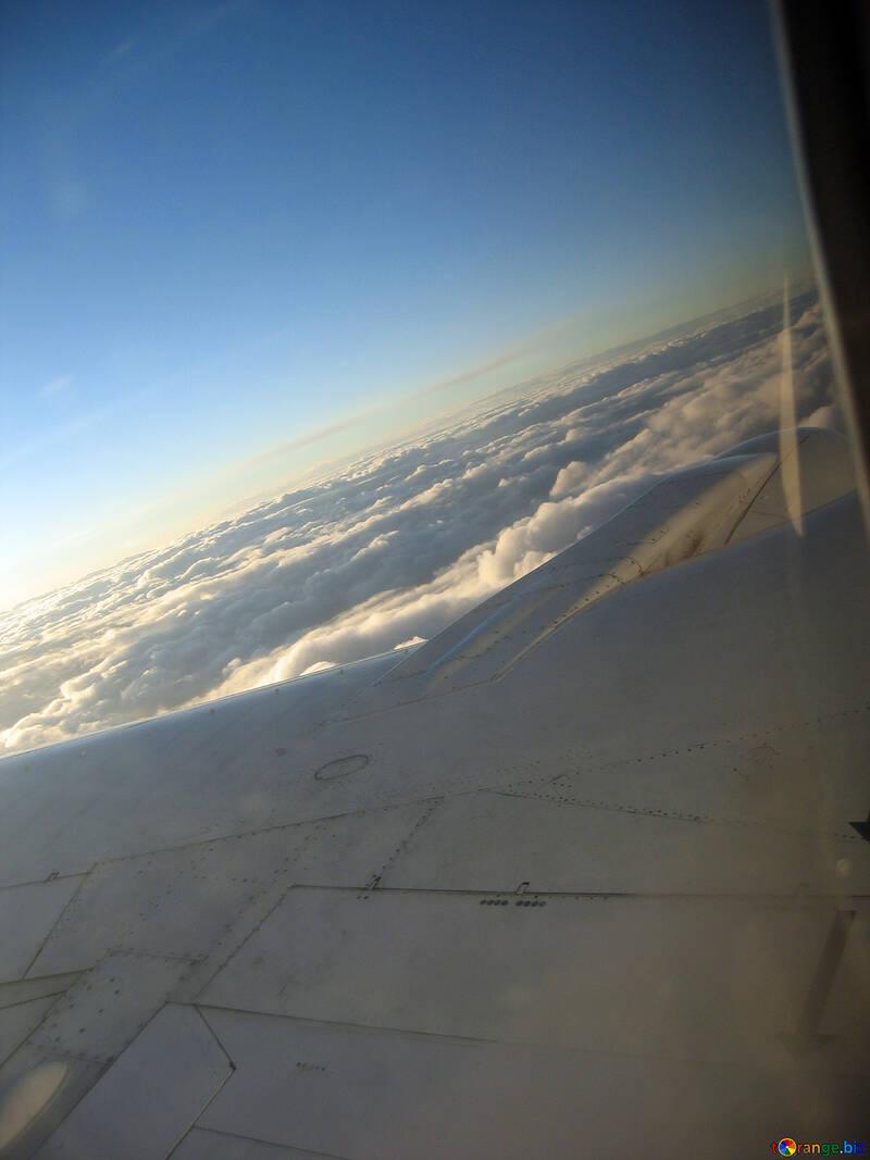 Ala Aviones cielo. №8022