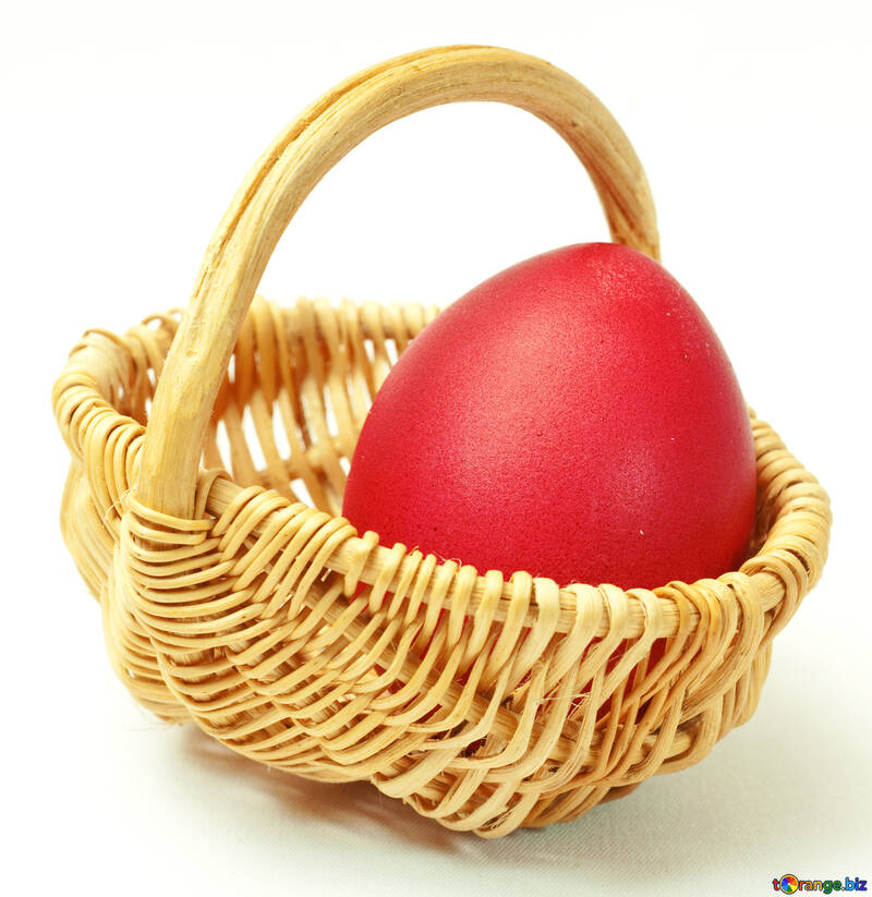 Red  chicken  Egg   basket №8210
