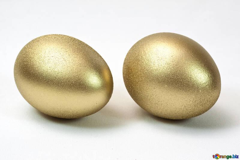 Zwei Gold Eier. №8235