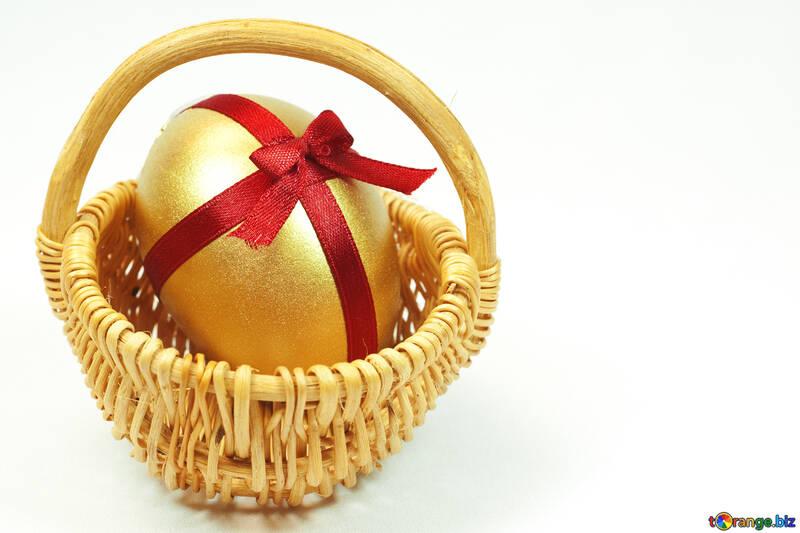 Easter  Postcard   Gold  egg №8211