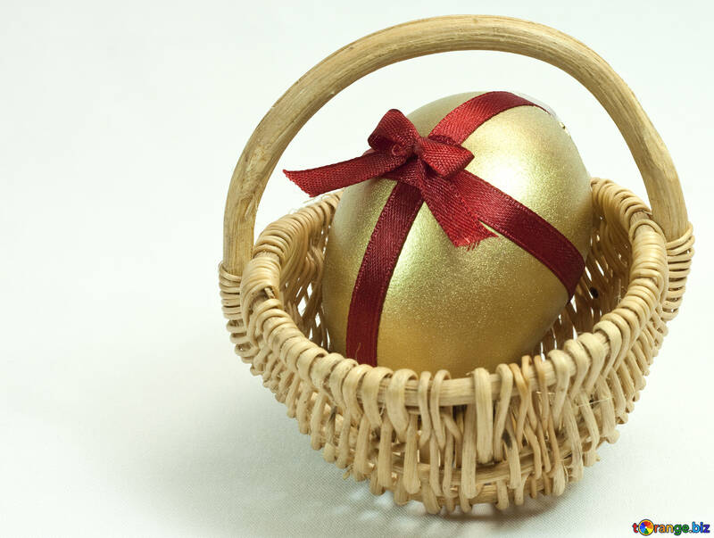 Easter  shopping cart   Gold  egg №8213