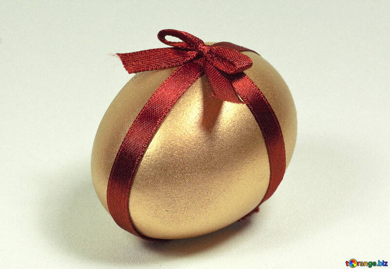 Egg  painted   Gold  Color №8110