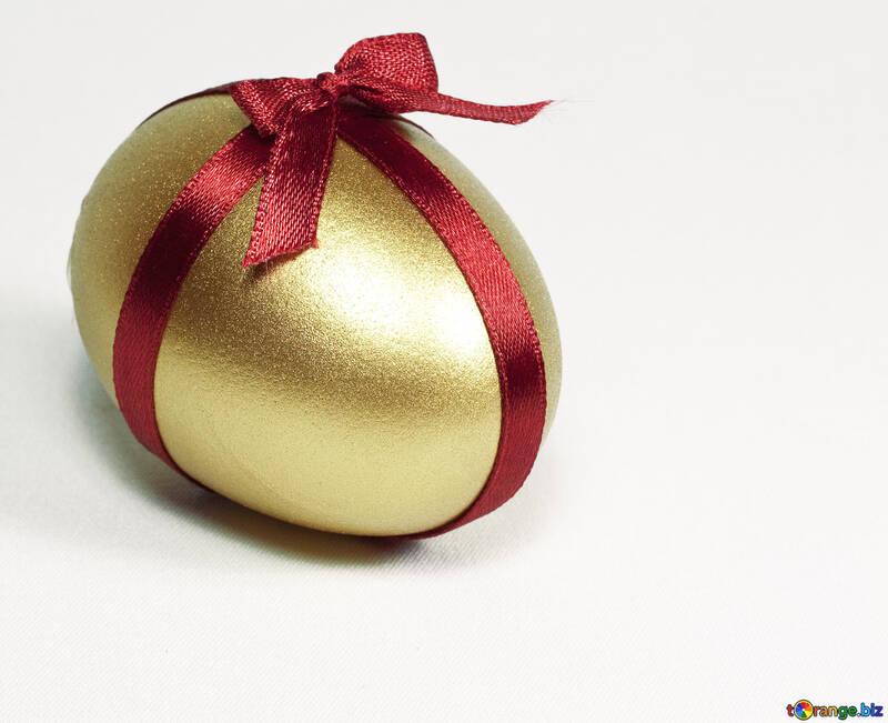 Gold  Egg   ribbon №8226