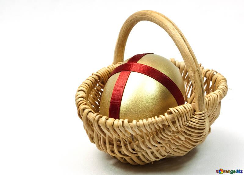 Wicker  Cart   Gold  egg №8217