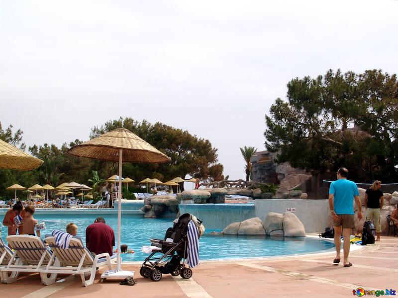 Holiday near pool №8331