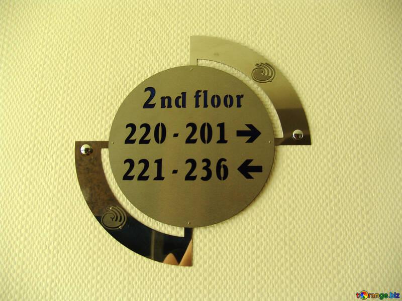 Указатель номеров комнат  в отеле №8933