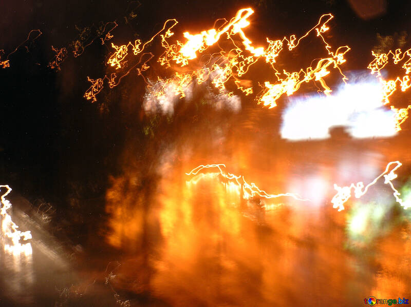 Background.  Hazy.  Night  road №8044