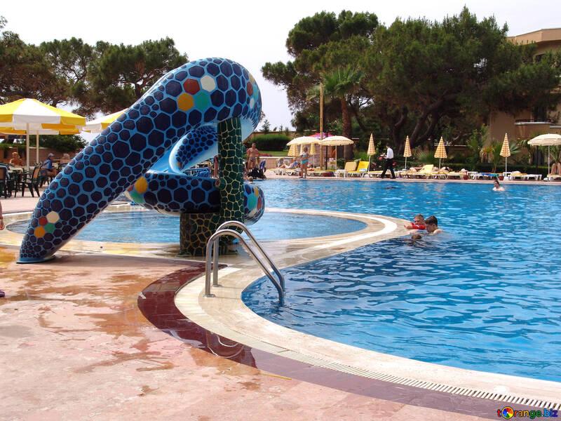 Kids  water  slide - snake. №8362