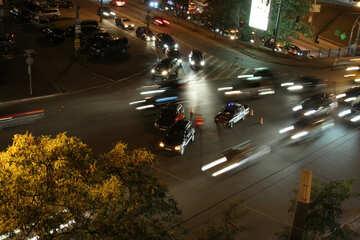 Nacht  Straße Unfall  №9313