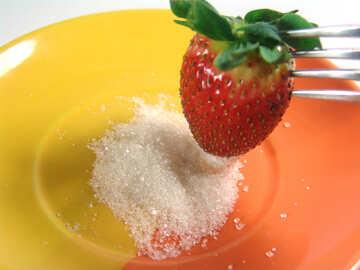 Strawberries   and  sugar №9127