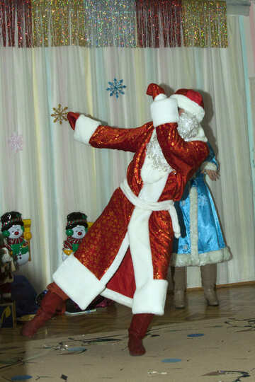 Grandfather frost dancing №9845