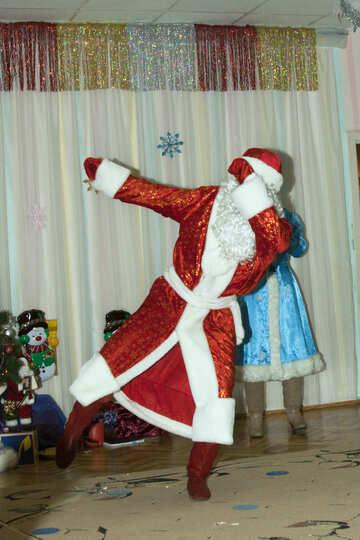Дед мороз танцует №9869