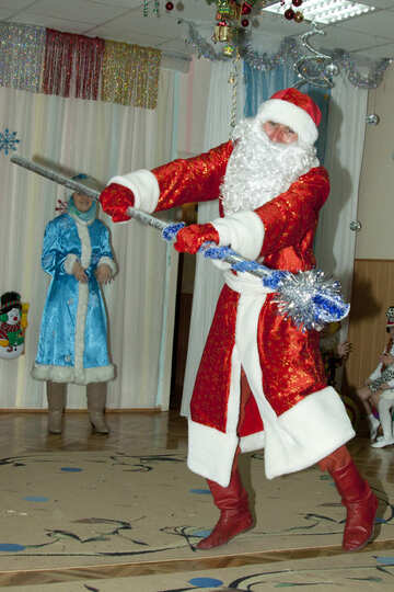 Santa Claus  in  Junior  school №9861