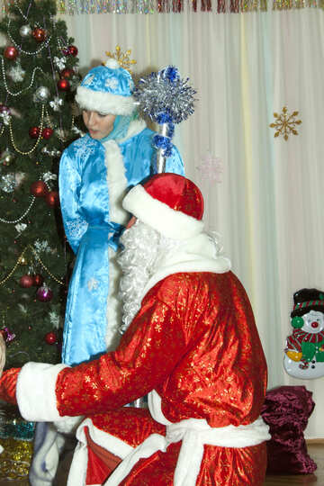 Maiden  and  Santa Claus №9855