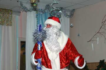 Santa Claus and staff №9833