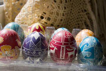 Eggs  painted  for  Easter №9716