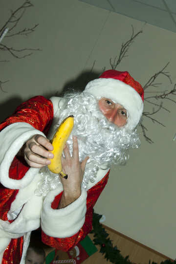 Santa Claus  and  banana №9835