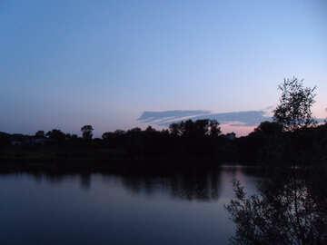 Sunset  at  Lake №9637