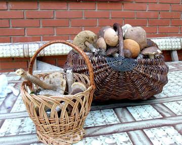 Baskets    mushrooms №9432