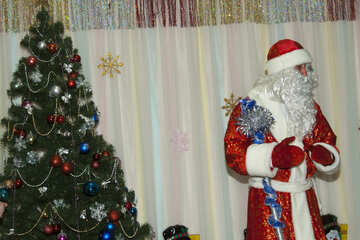 Santa Claus  and  tree №9841