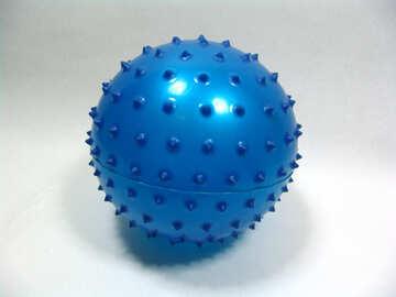 Мячик с пупырышками №9228