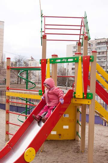 Child  down    Slides №9061