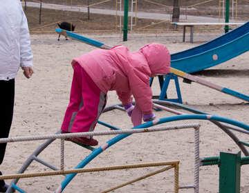 Child  on  play  platform №9070