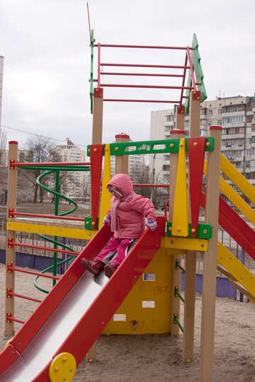 Child  slides     №9063