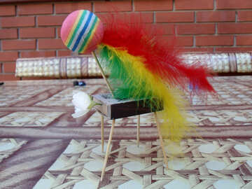 Children  homemade  toy.  Horse. №9732