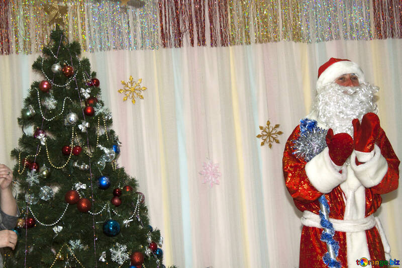Cheerful  Santa Claus  Background. №9848